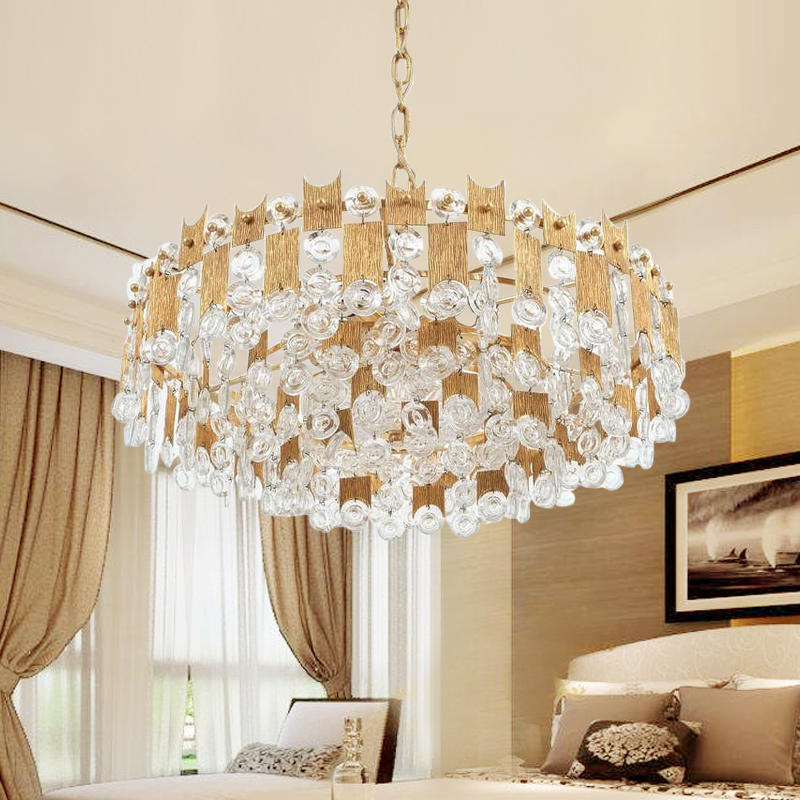 Nordic Style villa living room post-modern chandelier