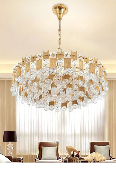 ANC-High-quality Crystal Chandelier | Nordic Style Villa Living Room Lamp