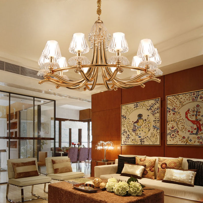 ANC-Linear Chandelier | Creative Personality Crystal Restaurant Lamp-4
