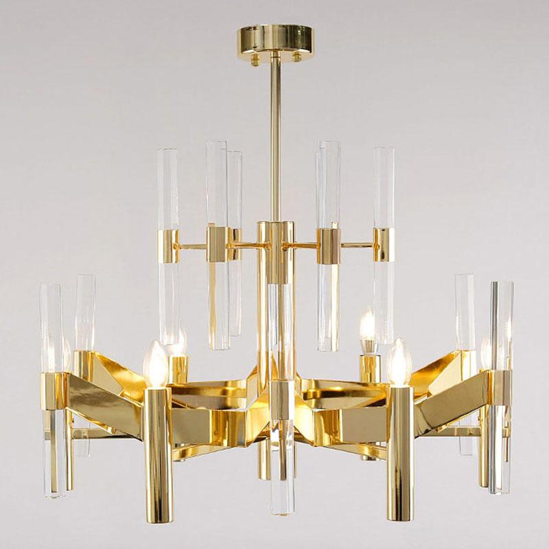 Simple modern living room dining room bar table lamp creative design crystal glass chandelier
