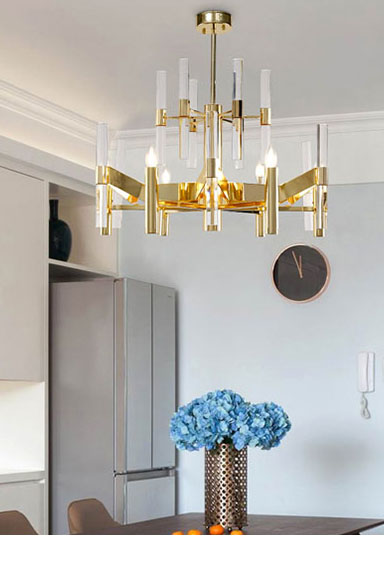 ANC-Find Crystal Chandelier Rectangular Chandelier Dining Room Lamp