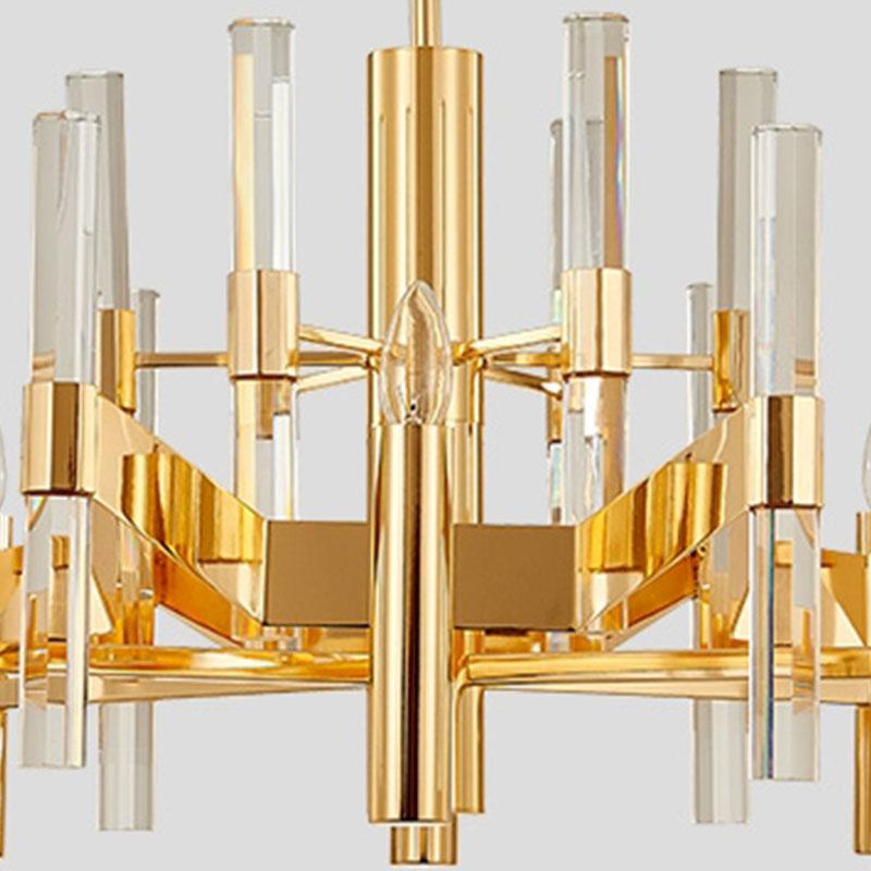 ANC-Find Crystal Chandelier Rectangular Chandelier Dining Room Lamp-1