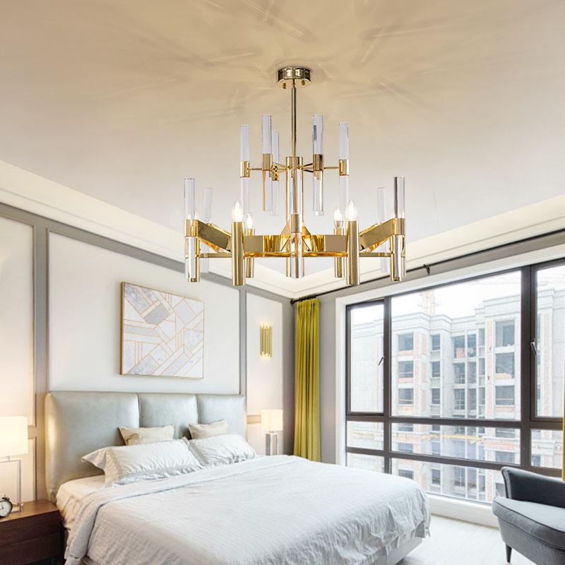 ANC-Find Crystal Chandelier Rectangular Chandelier Dining Room Lamp-3