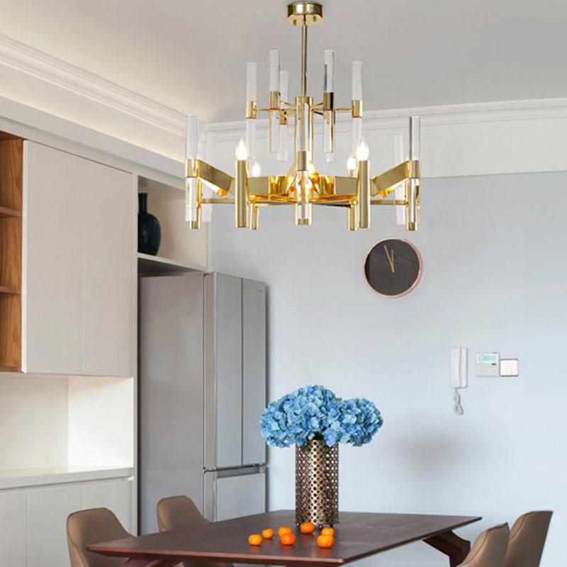 ANC-Find Crystal Chandelier Rectangular Chandelier Dining Room Lamp-4