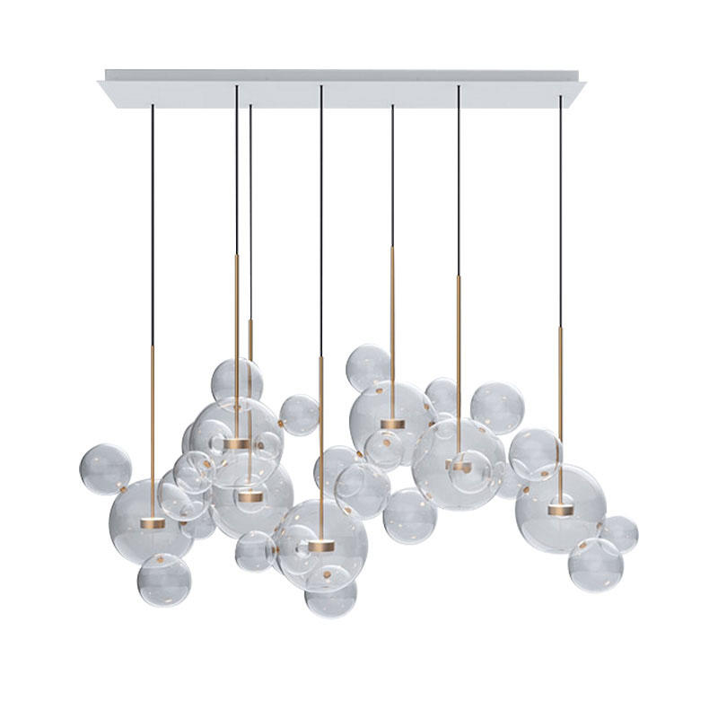 Glass ball led restaurant chandelier living room bedroom lamps