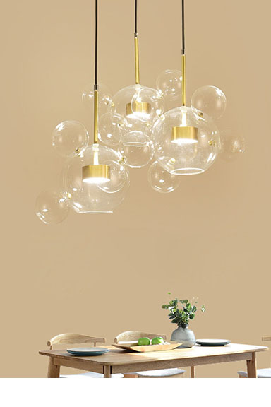 ANC-Find Bedroom Pendant Lamps Glass Ball Led Restaurant Chandelier