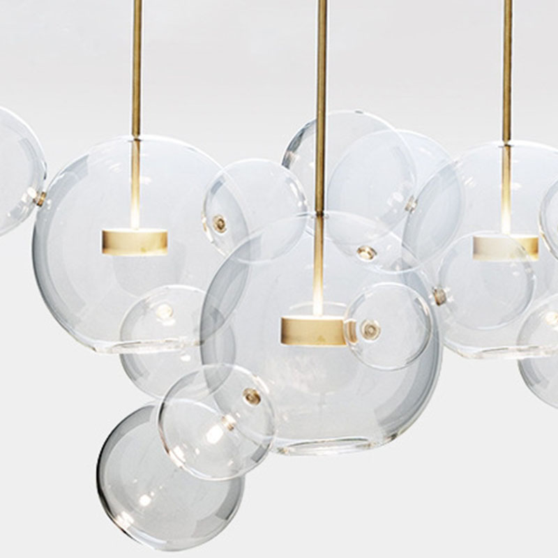 ANC-Find Bedroom Pendant Lamps Glass Ball Led Restaurant Chandelier-1
