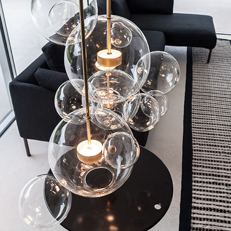 ANC-Find Bedroom Pendant Lamps Glass Ball Led Restaurant Chandelier-2