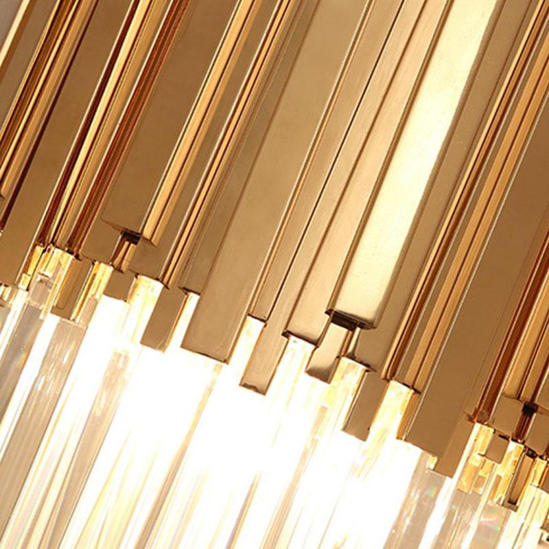 Nordic style living room bedroom bedside crystal strip hotel restaurant corridor project lighting wall lamp