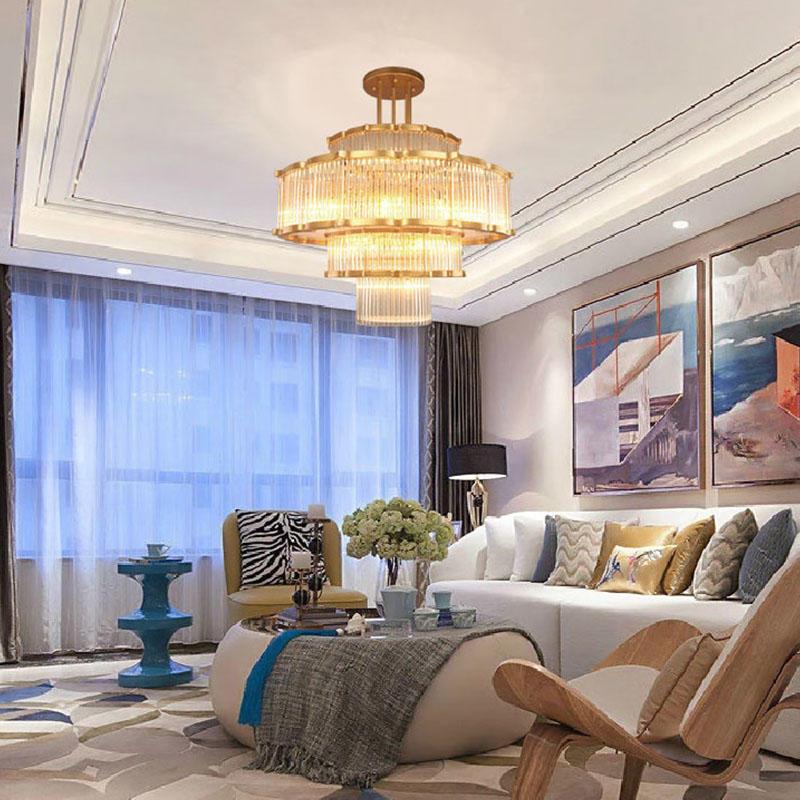 Modern flower-shaped European hotel lobby club chandelier