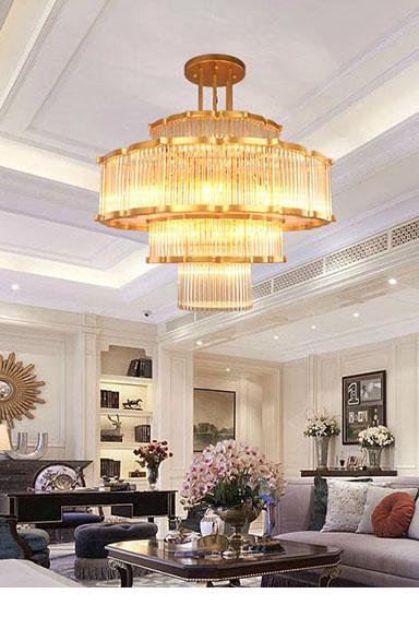 ANC-High-quality Chandelier | Modern Flower-shaped European Hotel Lamp