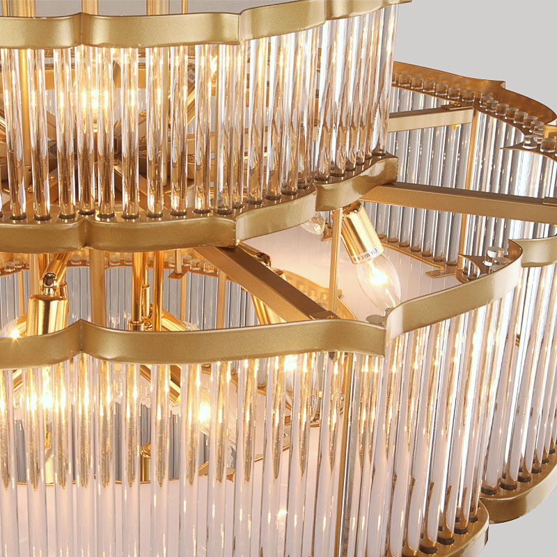 ANC-High-quality Chandelier | Modern Flower-shaped European Hotel Lamp-2