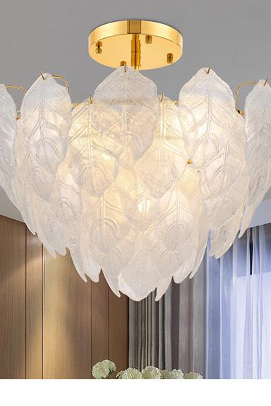 ANC-Nordic Style Handmade Art Tree Leaves Romantic Pendant Light
