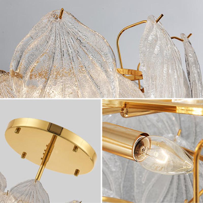 ANC-Nordic Style Handmade Art Tree Leaves Romantic Pendant Light-1