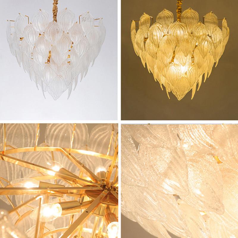 ANC-Nordic Style Handmade Art Tree Leaves Romantic Pendant Light-3