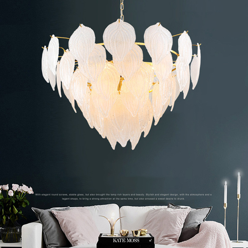 ANC-Nordic Style Handmade Art Tree Leaves Romantic Pendant Light-4