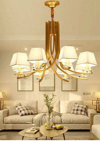 ANC-Manufacturer Of Art Deco Chandelier American Copper Beige Light