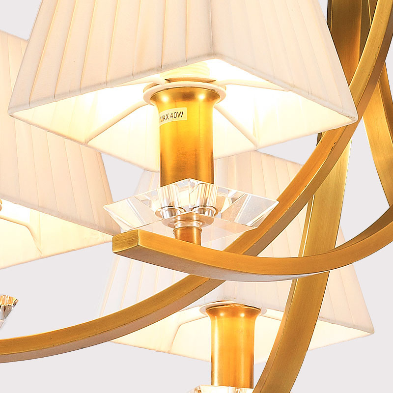 ANC-Manufacturer Of Art Deco Chandelier American Copper Beige Light-1