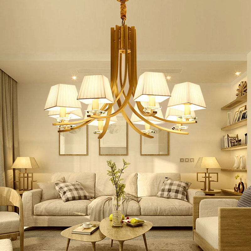 ANC-Manufacturer Of Art Deco Chandelier American Copper Beige Light-3