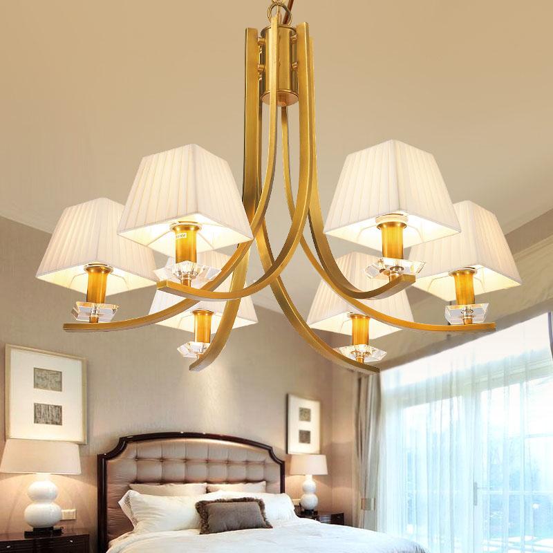 ANC-Manufacturer Of Art Deco Chandelier American Copper Beige Light-4