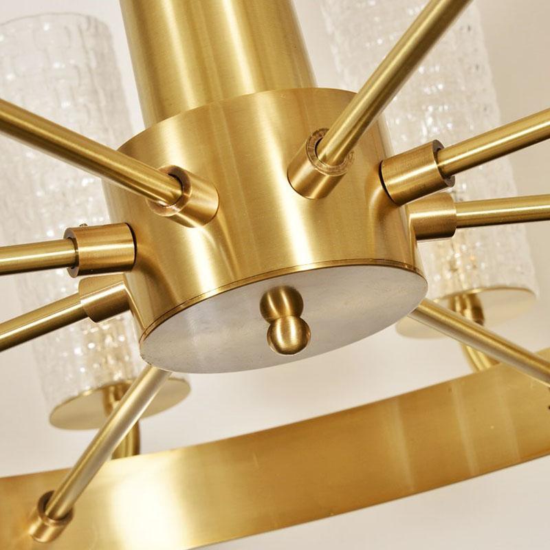 ANC-Art Deco Chandelier Simple Design American Copper Art Light-1