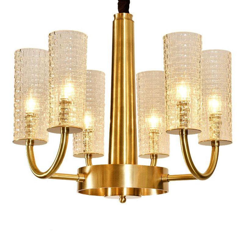 ANC-Art Deco Chandelier Simple Design American Copper Art Light-2