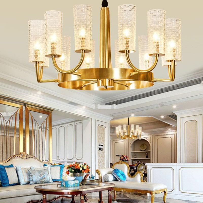 ANC-Art Deco Chandelier Simple Design American Copper Art Light-3