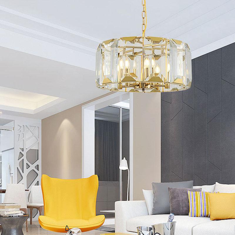 ANC-Postmodern Minimalist Crystal Strip Round Luxury Unique Chandeliers-3