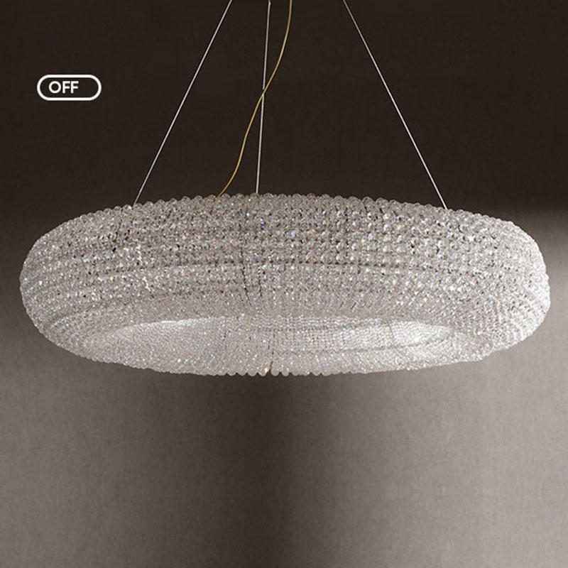 Pineapple beads round large size modern style simple chandelier