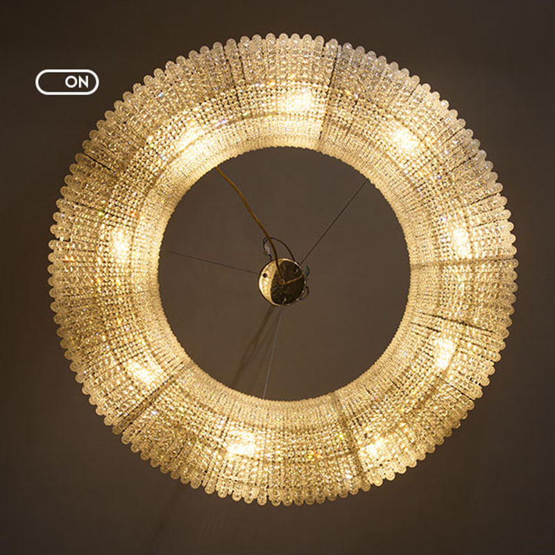 ANC-Pineapple Beads Chandelier Round Large Size Modern Style-1