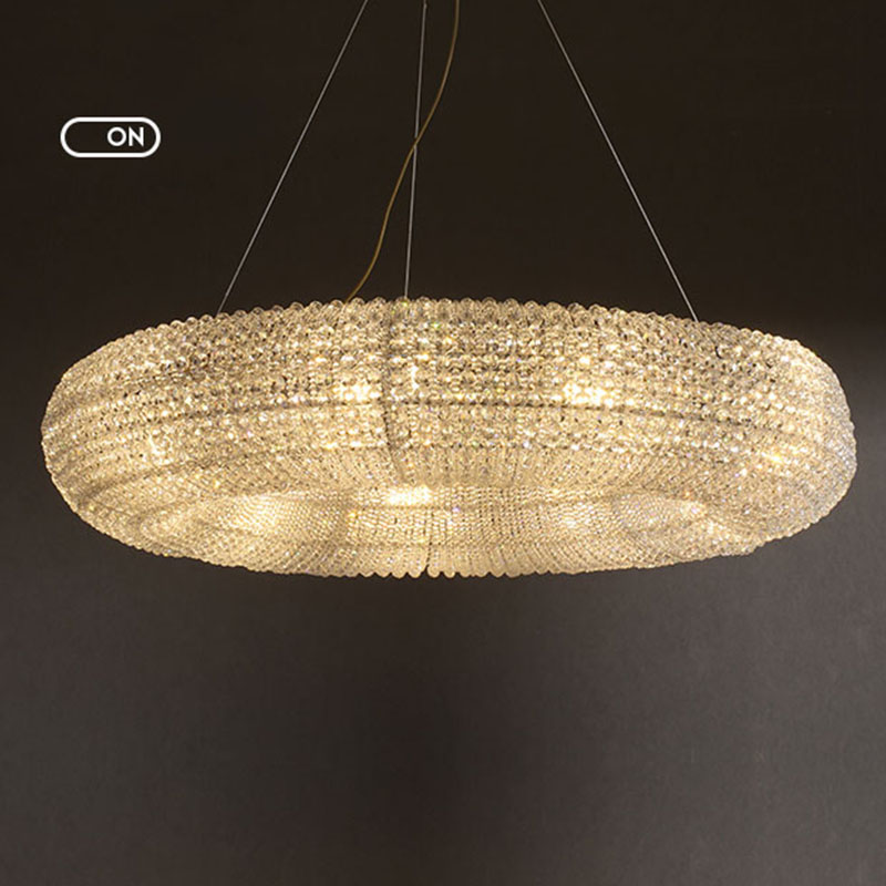 ANC-Pineapple Beads Chandelier Round Large Size Modern Style-2