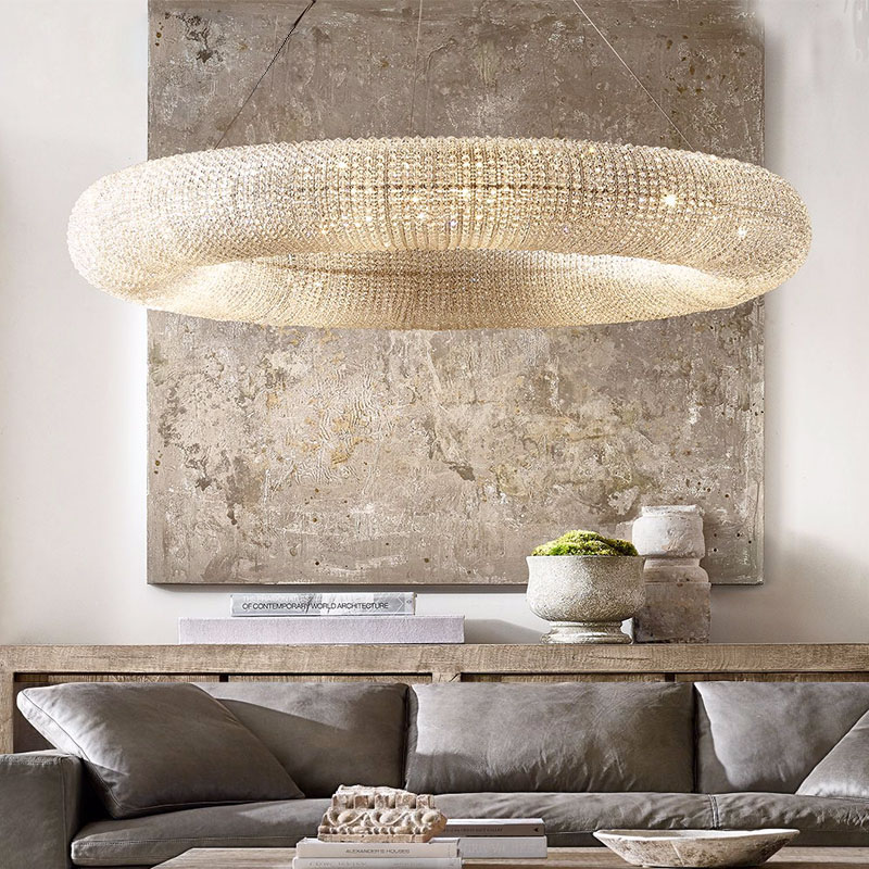 ANC-Pineapple Beads Chandelier Round Large Size Modern Style-3