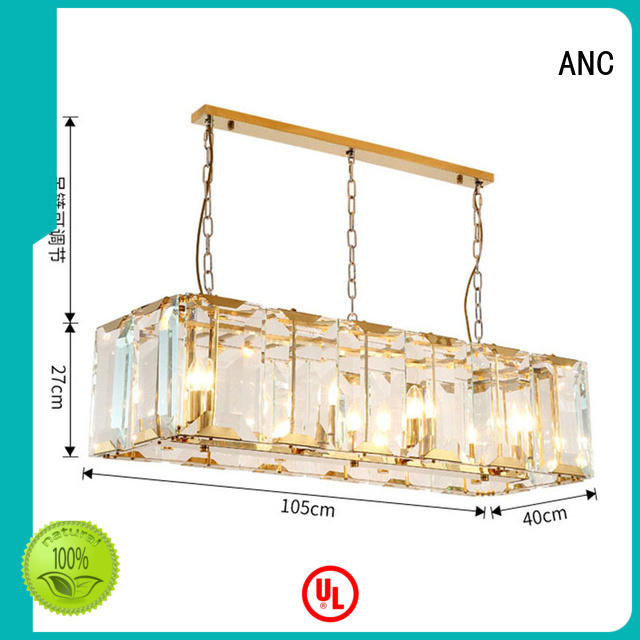ANC prestantious modern dining room chandeliers circuit balcony