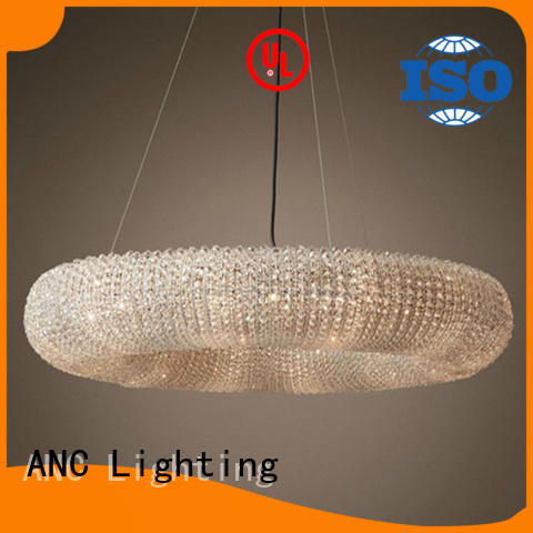 ANC frosted dining chandelier short indoor