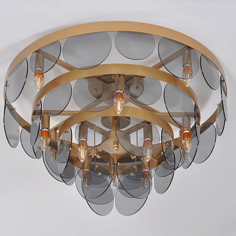 ANC-High-quality Glass Ceiling Lamp | Postmodern Minimalist Round Type-1