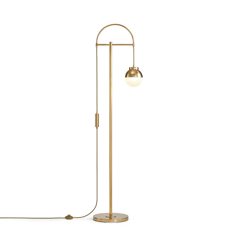 Postmodern minimalist golden ball floor lamp