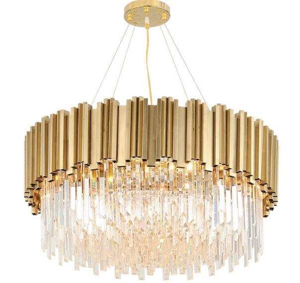 Luxury Modern Living Room Light Round Hotel Villa Crystal Chandeliers