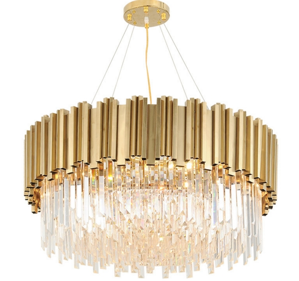 ANC-Linear Chandelier | Luxury Modern Light Round Hotel Chandeliers