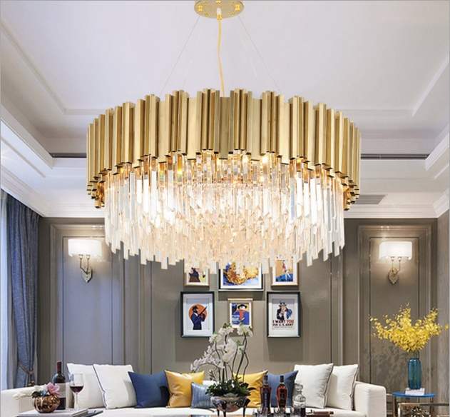 ANC-Linear Chandelier | Luxury Modern Light Round Hotel Chandeliers-2