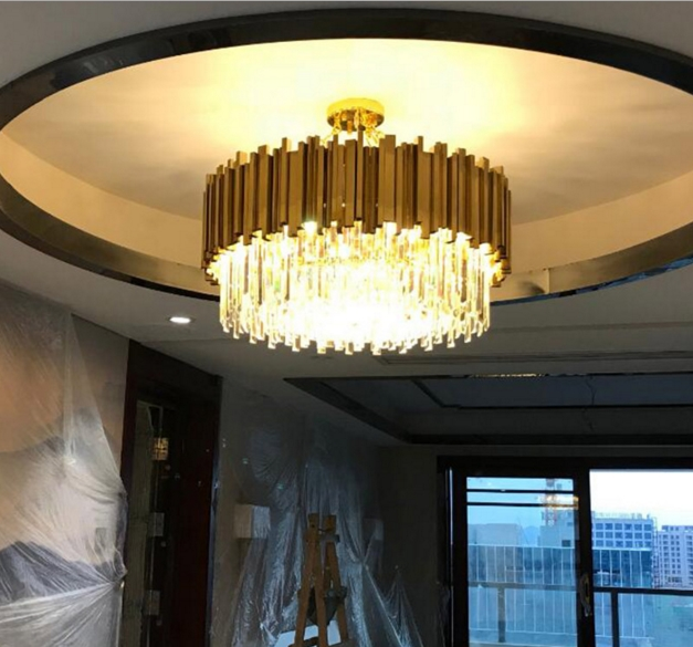 ANC-Linear Chandelier | Luxury Modern Light Round Hotel Chandeliers-1