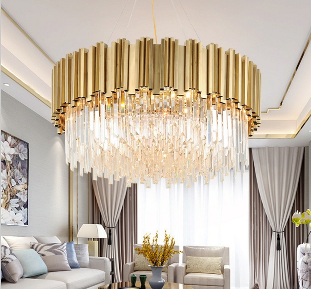 ANC-Linear Chandelier | Luxury Modern Light Round Hotel Chandeliers-4