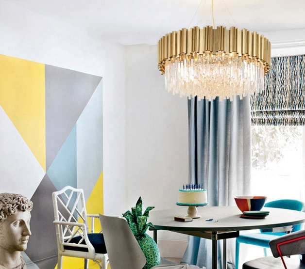 ANC-Linear Chandelier | Luxury Modern Light Round Hotel Chandeliers-3