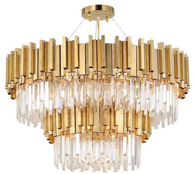 4-layer Modern Indoor Lighting Luxury Crystal Chandeliers