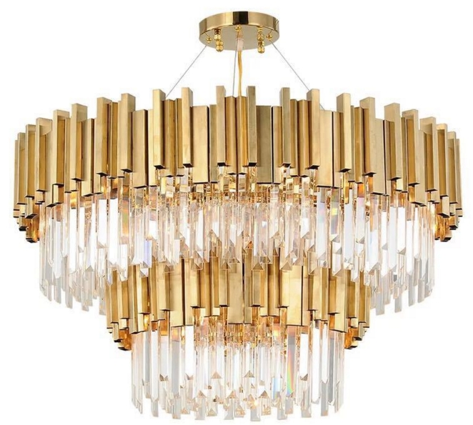 ANC-Quality Linear Chandelier | 4-layer Modern Indoor Lighting Chandeliers