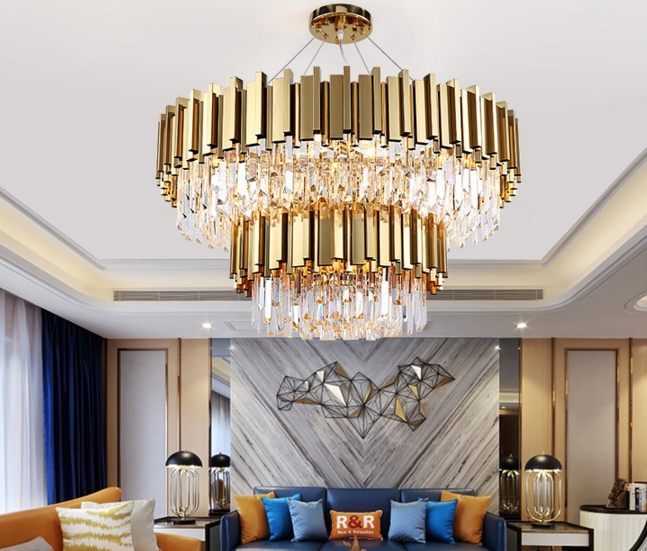 ANC-Quality Linear Chandelier | 4-layer Modern Indoor Lighting Chandeliers-3