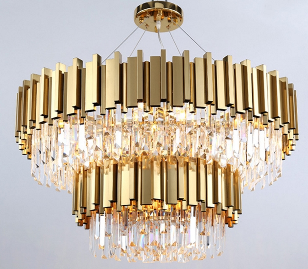 ANC-Quality Linear Chandelier | 4-layer Modern Indoor Lighting Chandeliers-5