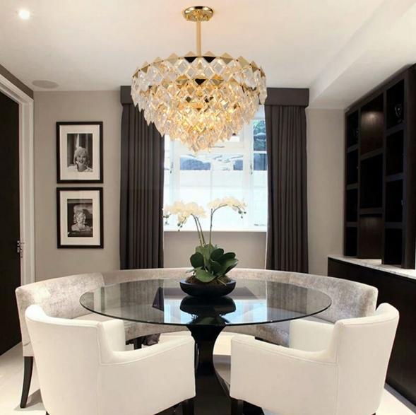 ANC-Modern Chandeliers Diamond-shaped Indoor Lighting Chandeliers-2