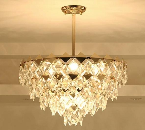 ANC-Modern Chandeliers Diamond-shaped Indoor Lighting Chandeliers-4