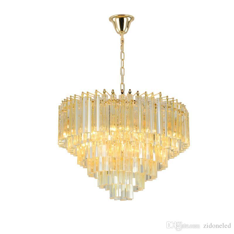 Modern Crystal Chandelier For Living Room dining room Gold Luxury Pendant lamp K9 clear Crystals Lighting
