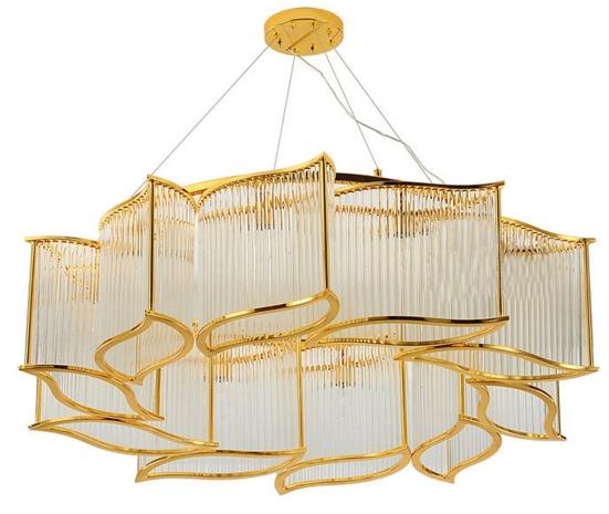 ANC-Modern Dining Room Chandeliers | Leaf Shape Crystal Chandelier-4